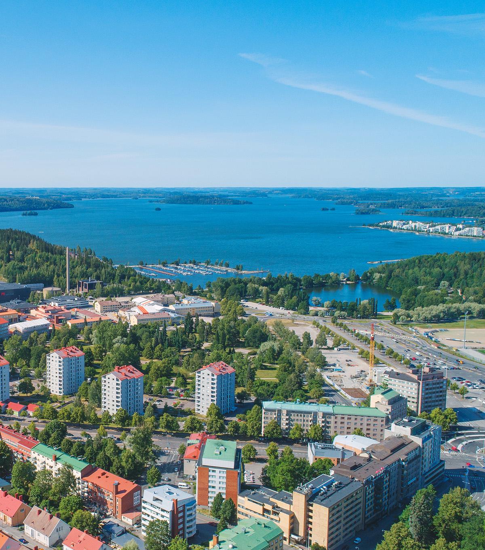 Vesijärvi kaupungista päin